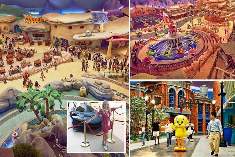 We try out the new $1billion Warner Bros INDOOR theme park in Abu Dhabi -  Big World Tale