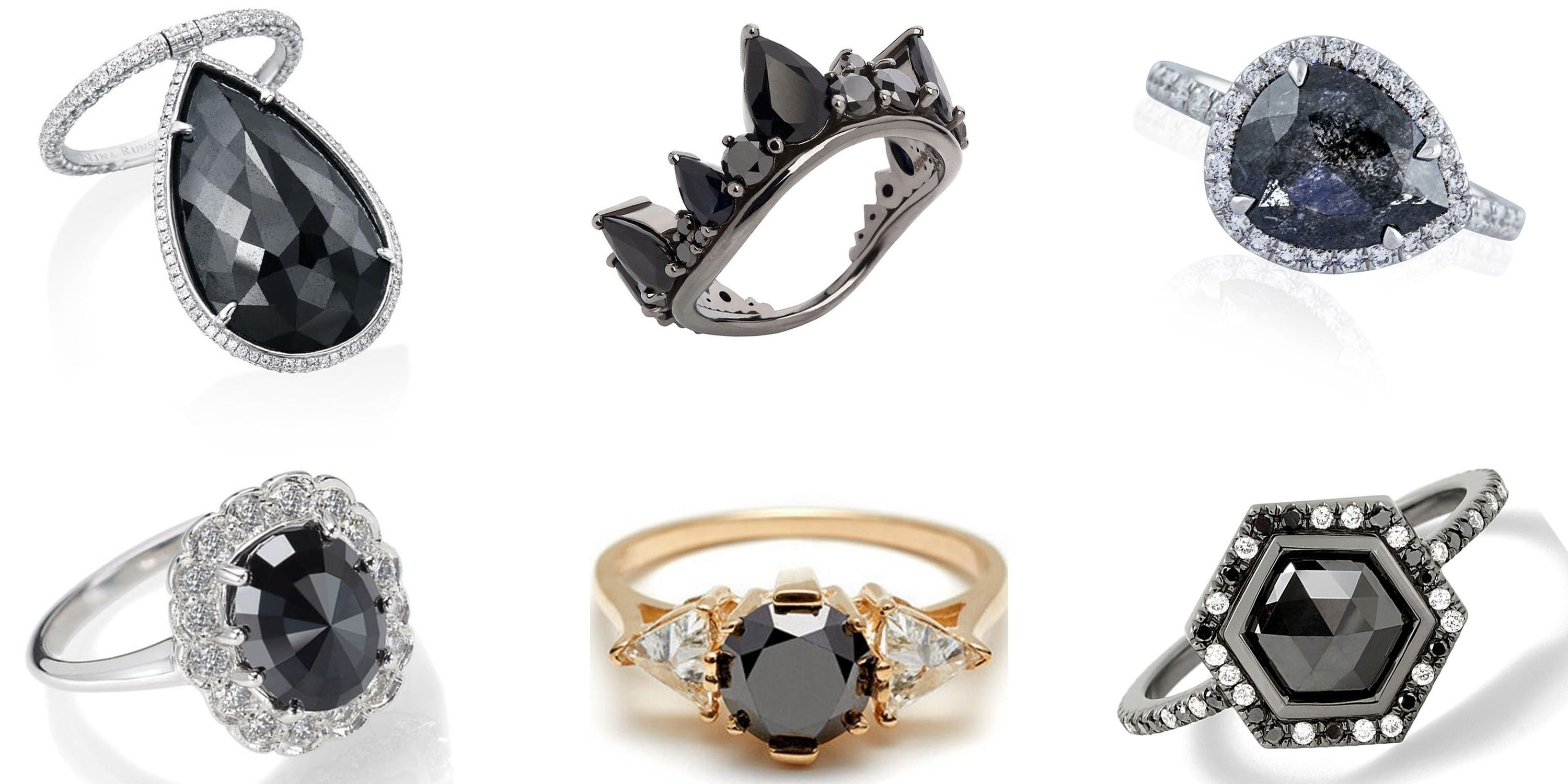 Black Diamond Rings Are The Carrie Bradshaw Of Engagement