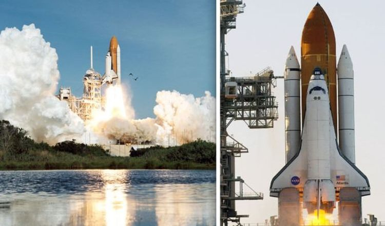 space shuttle on launchpad - photo #18